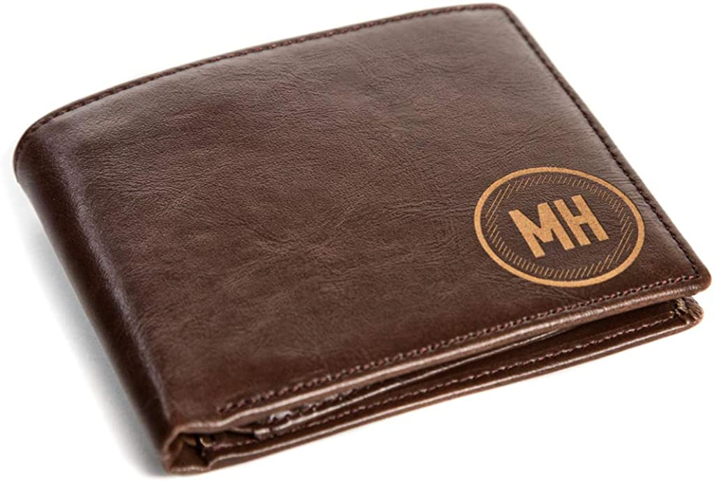 Swanky Badger Personalized Wallet - Bifold Leather Wallet, ID Slot, Card Slots