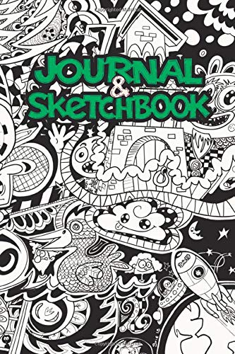 Doodle Journal and Notebook: 120 Blank Pages - 6 x 9