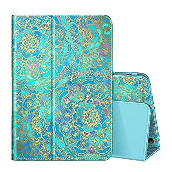 Fintie Folio Case for All-New Amazon Fire HD 8 Tablet and Fire HD 8 Plus Tablet  10th Generation 2020 Release  - Slim Fit Premium Vegan Leather Standing Cover with Auto Sleep/Wake Shades of Blue