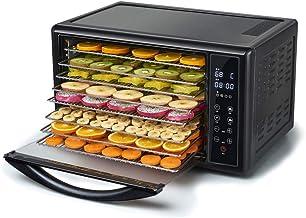 Máquina de conservación de alimentos para el hogar Deshidratador de alimentos, pantalla táctil inteligente eléctrica Temperatura regulable Silenciamiento del tiempo con 8 capas de bandeja de acero ino