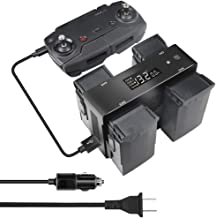 Hanatora Battery Wall Charger & Car Charger for DJI Mavic Air and Remote Controller,5 in 1 Rapid Charging Hub with Charging, Discharging and Storage