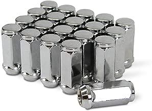 TC Sportline WH-LN12UN190CH 20 pcs Chrome Bulge Acorn Wheel Lug Nuts 1/2-20 Closed End 1.9