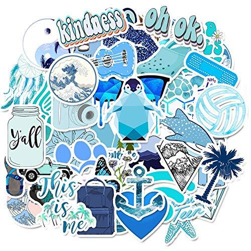 PMSMT Синий Vsco Наклейки Пакет Скейтборд Животных Наклейка Для Малыша Ноутбука Водонепроницаемый Мотоцикл Граффити Записки Прохладный Чемодан 50 ШТ.