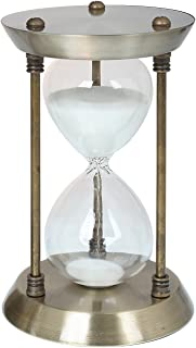 Dickwell Hourglass Timer Sand Timer 15 Minutes Timer Metal Hourglass 7 Inch Sand Glass