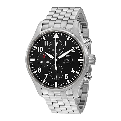 IWC Mens Swiss Quartz Silver Tone and Stainless Steel Watch, Color:Silver Model:
