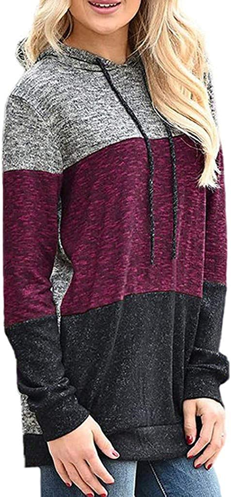 Forthery-Women Hoodie for Women, Active Long Sleeve Fleece Lined Fashion Hoodie Pullover with Plus Size