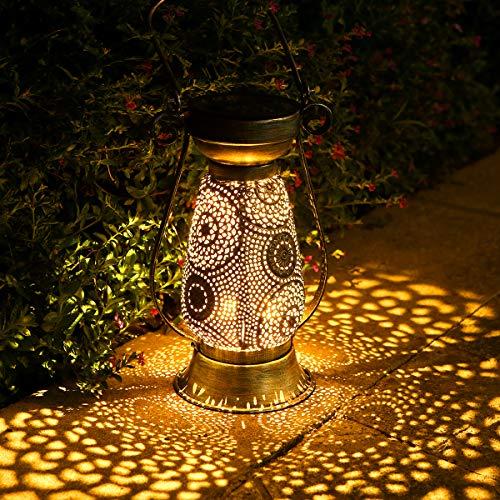 Solarlaterne für außen, Görvitor LED Solar Laterne Hängend für Draußen, Dekorative Solarlampe Garten Laterne IP44 Wasserdicht