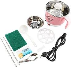 A sixx Mini Pot électrique, Casserole, Acier Inoxydable de sécurité 110 V pour étudiants(Cherry Powder)