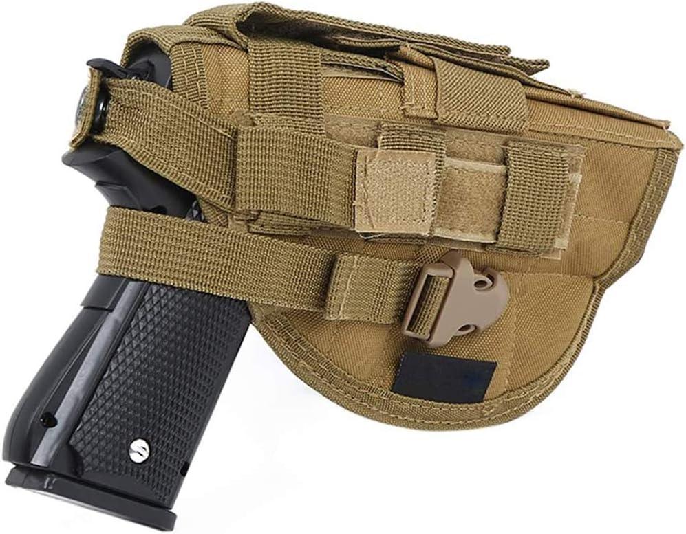 D&XQX Molle pistolera de la Pistola, Pistola táctica Glock pistolera Universal pistolera de la Pistola para S & W M & P Escudo Glock 1911 45 92 9,Marrón