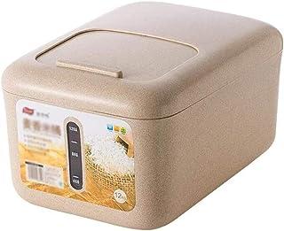 AWAING Bocaux Céréales Conteneurs de riz Boîte de rangement en plastique de joint Thicken humidité Preuve Cuisine alimenta...