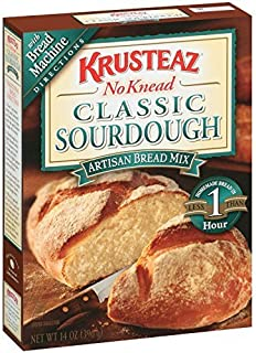 Krusteaz No Knead Artisan Bread Mix: Classic Sourdough (Pack of 2) 14 oz Boxes by Krusteaz