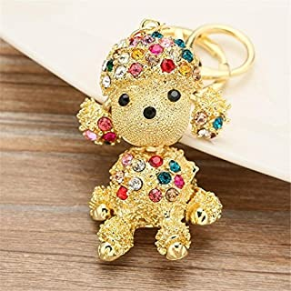 Axmerdal Colorful Puppy Dog Charm Fashionable Keychain - Sparkling Crystal - Unique Gift and Souvenir