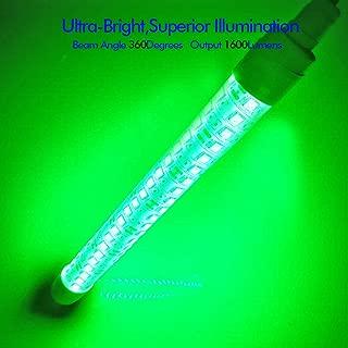 YIDAZN Underwater Fishing Light 12V 20W Super Bright LED, Night Fishing Finder, Fishing Attracting, IP68 Led Underwater Lamp for Sea, Boat, Clip Power Plug 20.8ft Power Cord