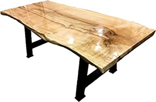 Natural Edge End Table, Unique Shaped Wood, Solid Wood Coffee Table, Live Edge Dining Table, Conference Table, Coffee Table with Metal Legs