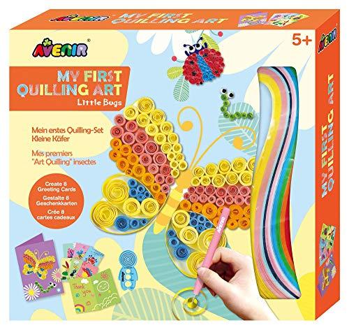 Avenir 6301744 Quilling-Set, Motiv Schmetterling, Bastelset für Kinder, Kreativset, inkl. Papier und Werkzeug