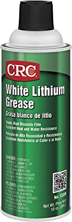 CRC 03080 White Lithium Grease Spray, (Net Weight: 10 oz.) 16oz