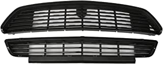 Grille Compatible With 2015-2017 Ford Mustang | CS Style ABS Black Front Bumper Grill Hood Mesh by IKON MOTORSPORTS | 2016