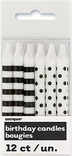 Black/white 12pk Party Candles
