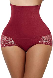 LIFANG Plus Size Sexy Women's Shaper Underwear Booty Lifter Ladies' Cotton Slim Control Body Shaper Waist Trainer Briefs Tummy Tucker (Color : Red, Size : XXXL)