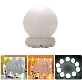 Luces LED Kit de Espejo con 10 Bombillas Regulables,3 Modos Ajustable de Color de Luz,Luz Espejo Maquillaje,Tocador,Espejo,Baño,Regalo para Fiesta,Aficionados de Maquillarse