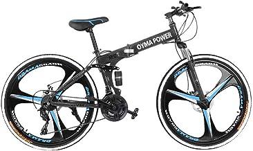 uublik 26in Folding Mountain Bike Shimanos 21 Speed Bicycle Full Suspension MTB Bikes
