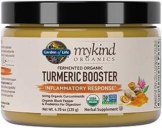 Garden of Life mykind Organics Turmeric Booster Inflammatory Response Powder - 30 Servings - 500mg Curcumin, Organic Non-G...