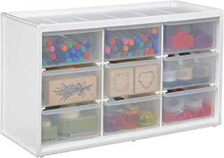 ArtBin 0365498 Store-in-Drawer Cabinet-14.375in x 6in x 8.675in, 9, White
