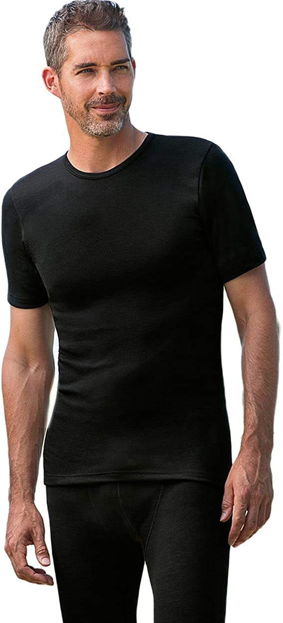 Engel Natur Mens Vest Short Sleeve Organic Merino Wool And Silk