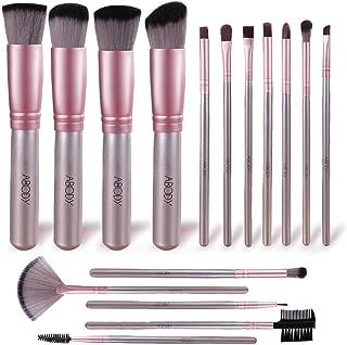 comprar comparacion Brochas de Maquillaje, Abody 16 Piezas de Pinceles Maquillaje de Fibra Sintética para Las Cejas, Sombra de Ojos, Base de M...
