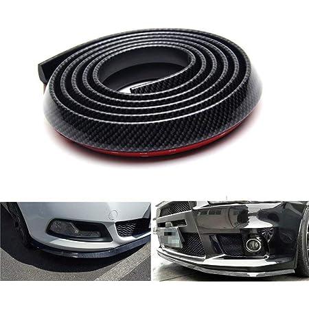 Lypumso Selbstklebend Frontspoilerlippe 2 5m Universal Tuning Frontspoiler Protector Aus Kohlefaser Für Auto Pkw Kfz Black Auto