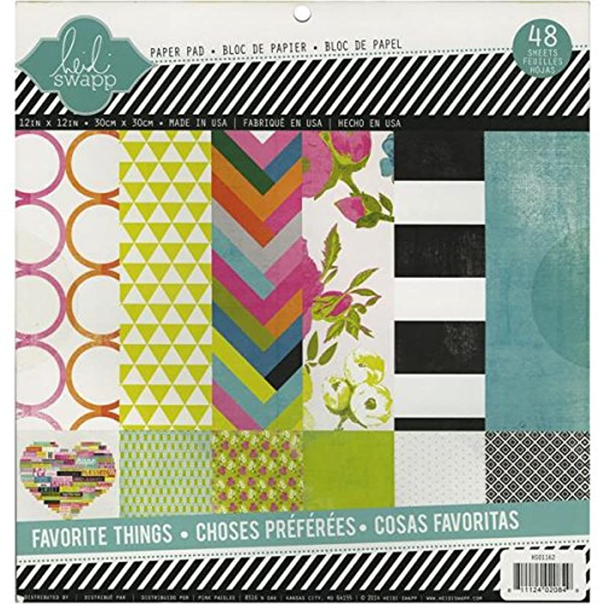 Heidi Swapp Favorite Things Paper Pad, 12 by 12-Inch