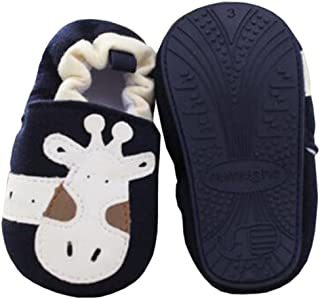 Baby First Walkers Soft Sole Cotton Toddler Shoes Blue Giraffe