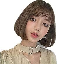 Korean wig women short straight hair air bangs foreign trade wig naturally fluffy bobo head button wig