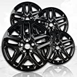 Upgrade Your Auto 17' Gloss Black Wheel Skins (Set of 4) for 2013-2016 Ford Fusion - 3957