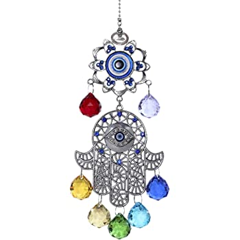 Mystic Jewels Pendentif /œil turc avec main de Fatima pour mur