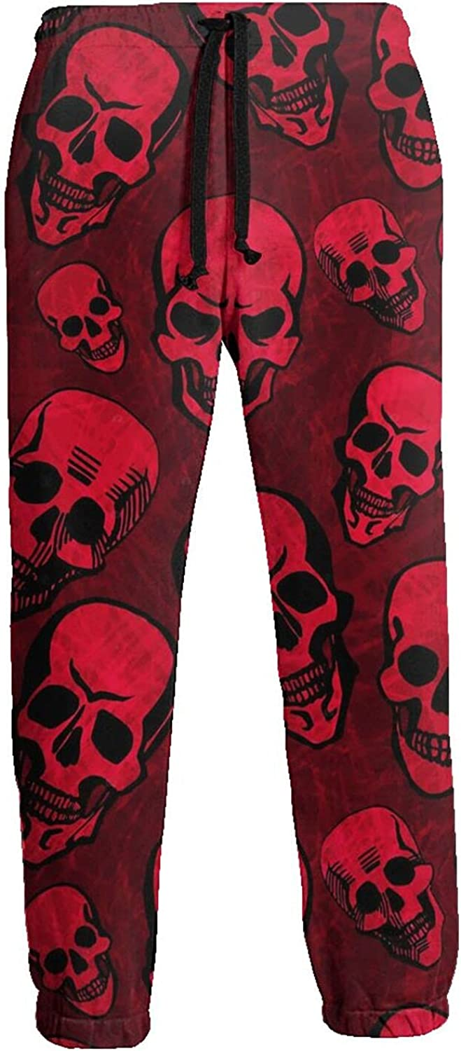 Active Sweats Jogger Pants Red Skull Scary Running Joggers Casual Sweatpants for Men Women