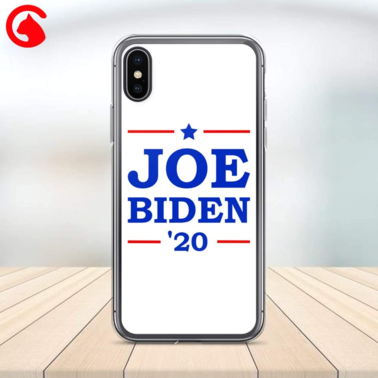 CatixCases Joe Biden 2020 Phone Case Biden For President Custom Cell Plastic Сlear Case for Apple iPhone X/XS/XR/XS Max / 7/8 / plus iPhone 6 / 6S plus Protector Protective Cover Art Design