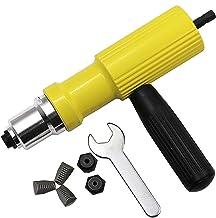 Electric Rivet Gun Drill Adapter Kit, professionell rivetermutter setter kit, blind riveter för trådlös elektrisk borr, ni...
