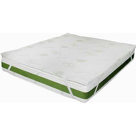 Amazon Basics Coprimaterasso In Memory Foam Con Cinghie Elastiche Spessore 4 Cm 80 X 190 Cm Amazon It Casa E Cucina