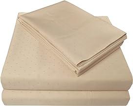 طقم ملاءات سرير وكيس وسادة فاخر مصنوع من قطن فاخر 100% من الساتين السويسري المنقط، كاليفورنيا كينغ - بيج