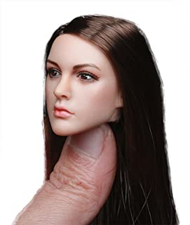 """Phicen 1/6 Scale Head Sculpt with Hair for 12"""" Female Body"""