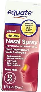 Equate - Nasal Spray, No Drip Original, 1oz (Compare to Afrin) 1-Pack