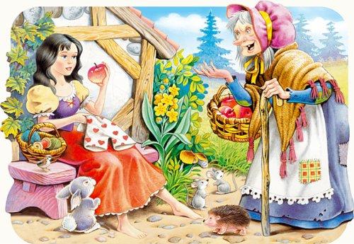 alles-meine.de GmbH Puzzle 30 Teile - Schneewittchen und die Sieben Zwerge - Märchen Brüder Grimm - Kinderpuzzle für Kinder - 7 Zwerg - Märchenpuzzle