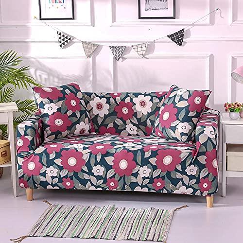 WXQY Funda de sofá de Estilo nórdico, Funda de sofá Flexible con Todo Incluido, sofá de Esquina en Forma de L para Sala de Estar, Toalla A8 de 2 plazas