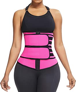 HEXIN Women's Waist Trainer Hot Sweat Neoprene Waist Trimmer Cincher Sport Girdle Corset Belt