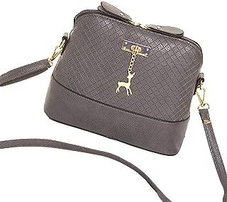 Niome Plaid Crossbody Bags Women Elegant PU Leather Shoulder Bag Deer Toy Pendant Messenger Bag Snakeskin-pattern Handbag