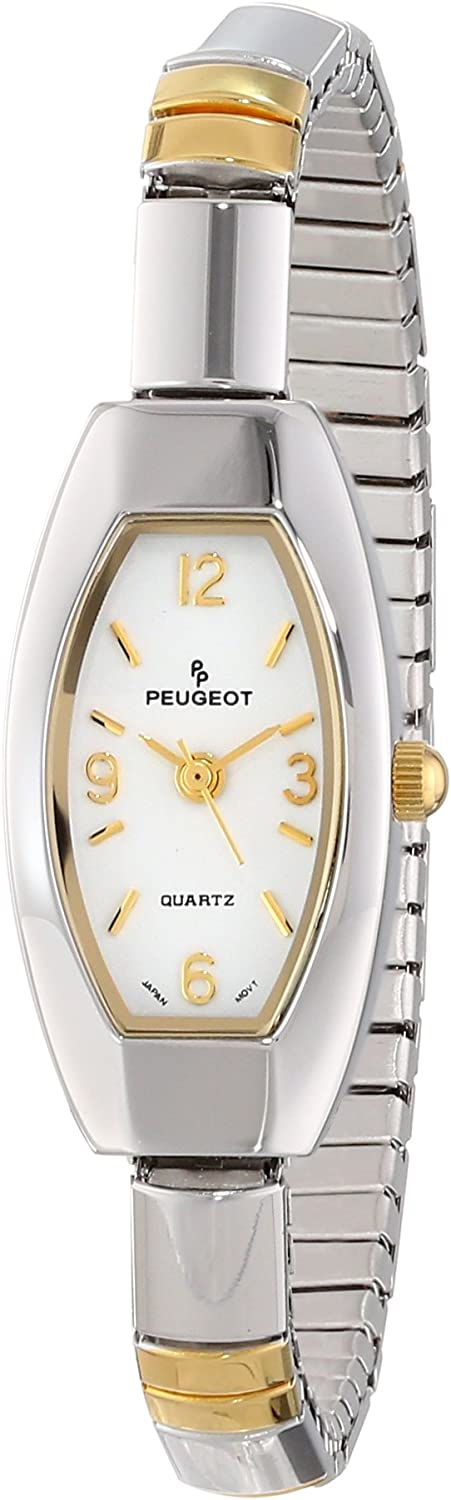 Peugeot Women's 415TT Two-Tone Oval OFFicial mail order Expansion Watch Low price