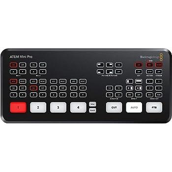 Amazon Com Blackmagic Design Atem Television Studio Pro 4k Uhd Live Production Switcher 8x 12g Sdi Inputs Electronics
