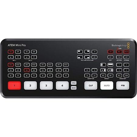 Blackmagic Design (ブラックマジックデザイン) ATEM Mini Pro 高解像度 ライブストリーミング スイッチャー (正規代理店)