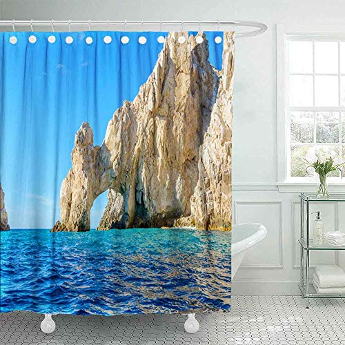 HerysTa Hotel Shower Curtain,Spa Shower Curtain The Arch Point Cabo San Mexico Arco at Lucas 72X78Inch Modern Shower Curtain Home Bathroom Decorations